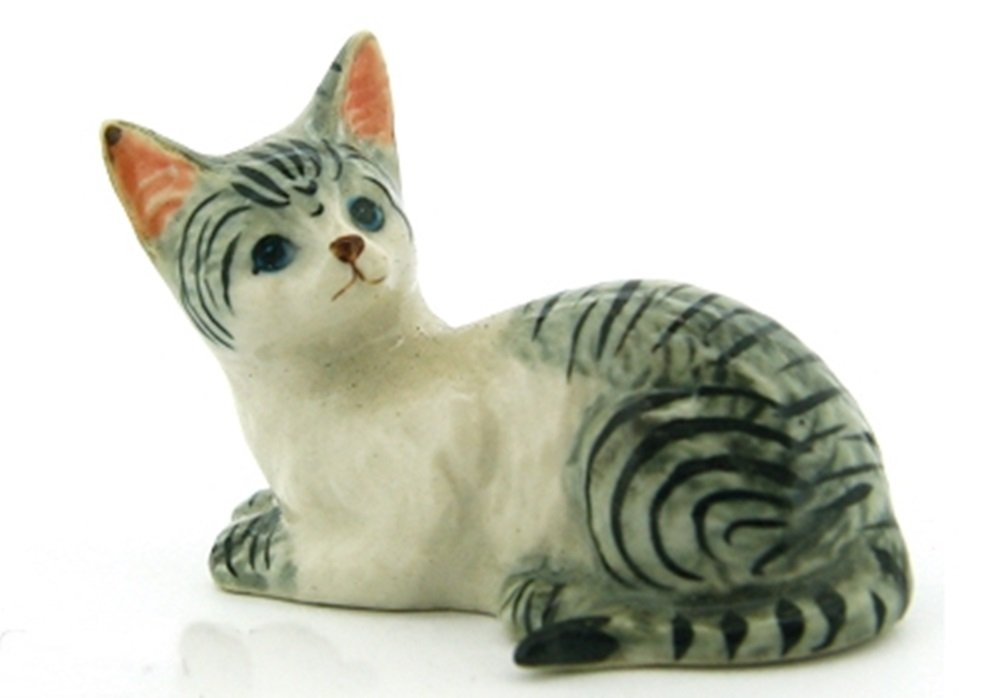 Dollhouse Miniatures Ceramic Cat No. 1 FIGURINE Animals Decor