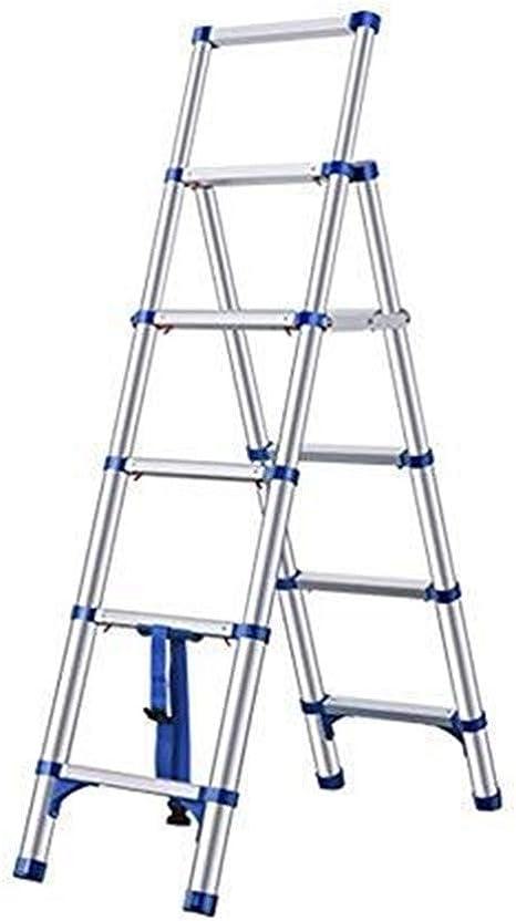 Escalera telescópica, Seis pasos Escalera, Escalera Portátil plegable de aluminio, espiga telescópica Escalera, 330lbs de capacidad de carga / 150kg (Color : Black): Amazon.es: Bricolaje y herramientas