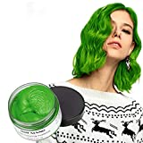 MOFAJANG Unisex Hair Color Dye Wax Styling Cream Mud Natural Hairstyle Pomade Temporary Hair Dye Wax for Party Cosplay & Halloween 4.23 oz (Green)