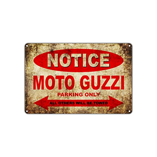 MOTO GUZZI Motorcycles Bikes Only All Others Will Be Towed Parking Sign Vintage Retro Metal Decor Art Shop Man Cave Bar Aluminum 8