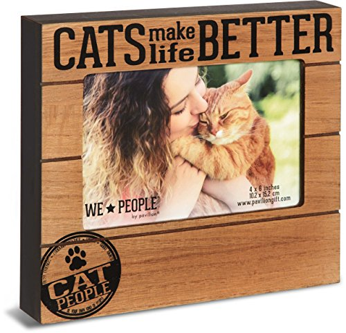 Pavilion Gift Company We We People - Cats Make Life Better 4x6 Picture Frame ()