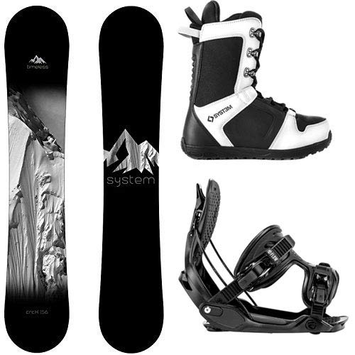 (System Package Timeless Snowboard 153 cm-Alpha MTN XL-APX Snowboard Boots Size 11)