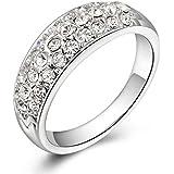 GEORGE SMITH レディース 18Kホワイトメッキ CZジルコニア 人気 リング 指輪 告白 誕生日 記念日 プレゼント ジュエリー 結婚指輪(14)
