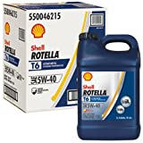 Shell Rotella T6 Full Synthetic Heavy Duty Engine Oil 5W-40, 2.5 Gallon Jug, Pack of 2