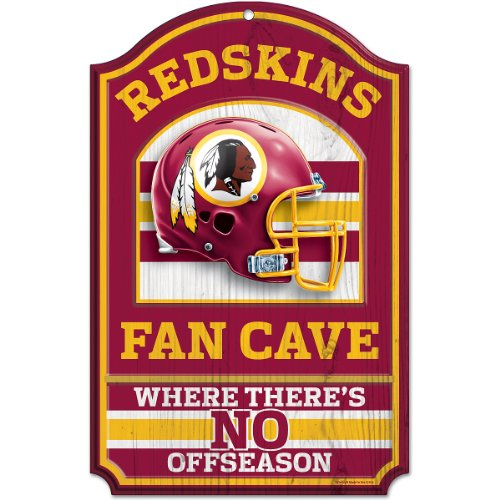 NFL Washington Redskins Fan Cave Wood Sign, 11