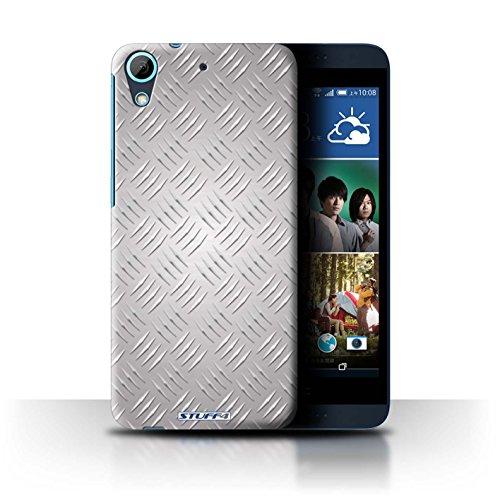 Coque de Stuff4 / Coque pour HTC Desire 626 / Argent Design / Motif en Métal en Relief Collection