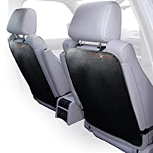 Auto Kick Mats For Full Back Seat Protection From Liquids, Stains, Mud & Dirt-Extra Long, Adjustable Car Seat Back Covers Made Of Durable Fabrics-Top Quality, Universal Car Accessories-Value Pack Of 2