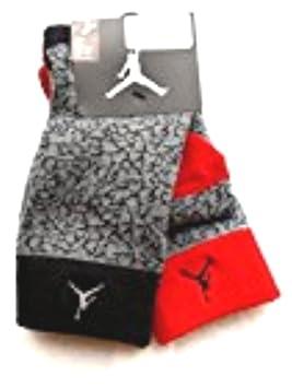 Nike Air Jordan 2 Pairs/Pack Calcetines de niños, jóvenes, Gris/Negro/Rojo, 5y-7y: Amazon.es: Deportes y aire libre