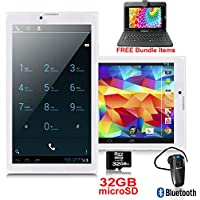 Indigi 2016 Unlocked Wireless Android 4.4 Kitkat A76 Smartphone 7-inch QHD -Bluetooth Bundle Included!