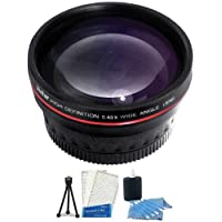 72mm 0.43X Wide Angle Lens With Macro + Mini Tripod + LCD Screen Protectors + Camera Cleaning Kit for CANON XH-A1 XH-G1 XL2 XL1S XL1 H1S H1A XL XH-A1 XH-G1
