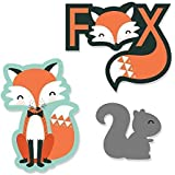 Mr. Foxy Fox - DIY Shaped Baby Shower or Birthday Party Cut-Outs - 24 Count