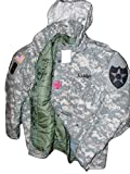 New Made in US Genuine Issue GI Military Army M-65 Acu Cold Weather Field Coat Jacket + Liner + Patches (Medium/Long)