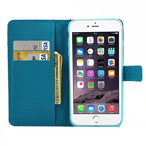 5,5 pulgadas para el iPhone caso, Para iPhone 7 Plus Pintura Patrón de Torre Eiffel Horizontal Flip Funda de cuero con soporte y tarjetas Slots & Wallet (5,5 pulgadas) ( SKU : IP7P3639J ) IP7P3639H