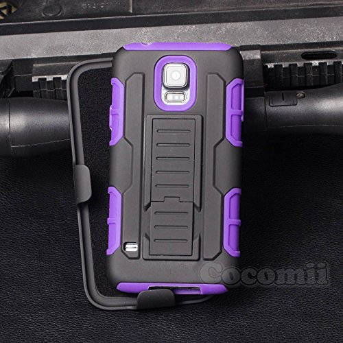 Galaxy S5 Active Case, Cocomii Robot Armor NEW [Heavy Duty] Premium Belt Clip Holster Kickstand Shockproof Hard Bumper