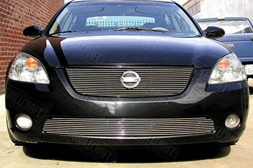 Grillcraft NIS1511-BAC BG Series Polished Aluminum Lower 1pc Billet Grill Grille Insert for Nissan Altima