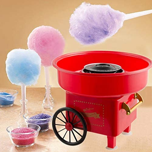 US Mini Fully Automatic Electric Cotton Candy Machine Maker,Sugar Free Electric Countertop Hard Candy Machine Kit US-BBU-1x Cotton candy machine Perfect for Family Party.