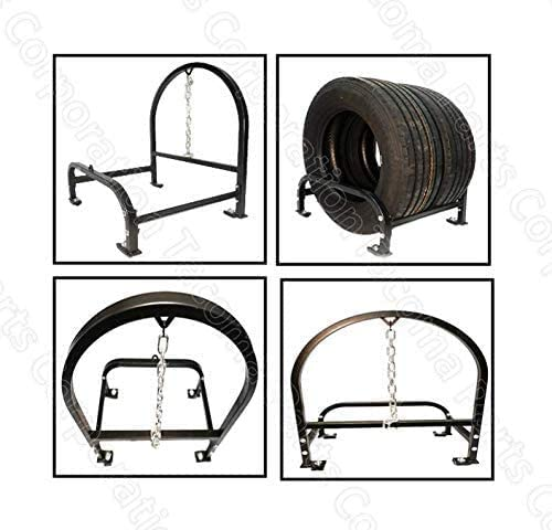 11R22.5 Kozak Semi Truck Steel Double Tire and Super Single Spare Tire Holder Behind Cab for Freightliner Volvo Trucks Tire Sizes 295//75R22.5 255//70R22.5