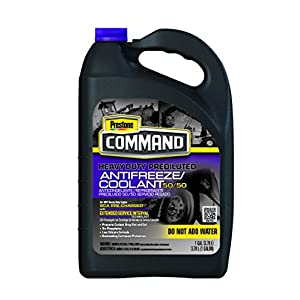 Prestone AFC10100-6PK Command Heavy Duty Extended Service Interval 50/50 Antifreeze, 1 Gallon (Pack of 6)