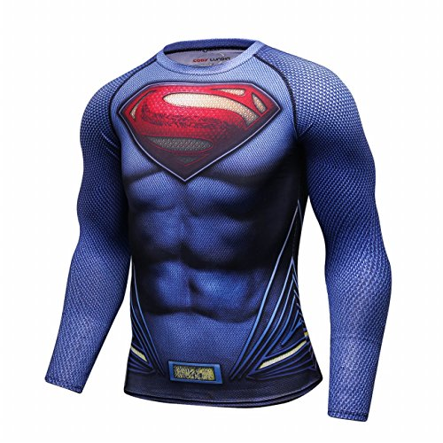 Cody Lundin Men's Long Sleeve Superman Compression Shirt
