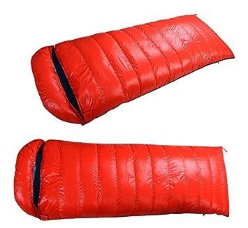 Adultos cálido invierno sobre abajo saco de dormir impermeable al aire libre senderismo camping sacos de dormir, rojo: Amazon.es: Deportes y aire libre