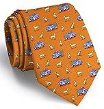 Bird Dog Bay Dogs Love Trucks Necktie (Orange)