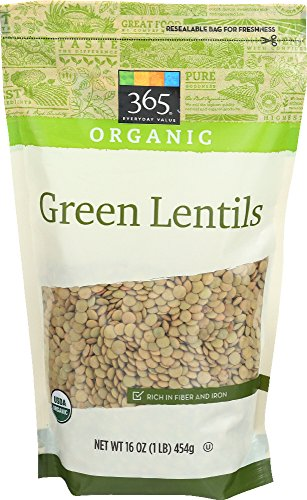 365 Everyday Value Organic Green Lentils, 16 Ounce (Organic Lentil)