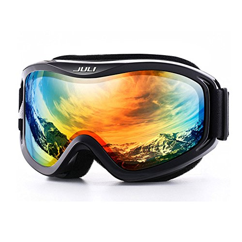 Ski Goggles Winter Snow Sports Snowboard with Anti-fog Double Lens ski mask glasses (C7) (Safety Science Googles Adult)
