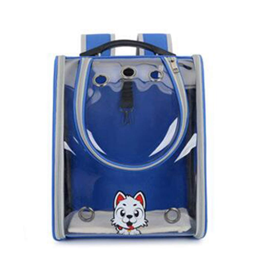 bluee Douhuayu New Full Transparent pet Backpack Out Portable pet Dog cat Bag Breathable pet Bag (color   Yellow)
