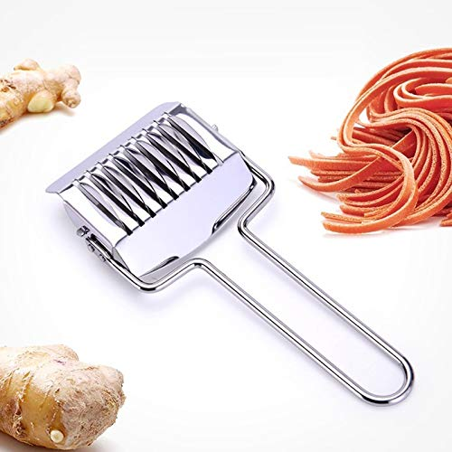 Commercial Pasta Maker - 1pc Diy Dough Cutting Stainless Steel Noodle Maker Lattice Roller Cutter Helper - Maker Pasta Machine Cutter Drying Dough Machine Noodl Rack Spaghetti Commercial
