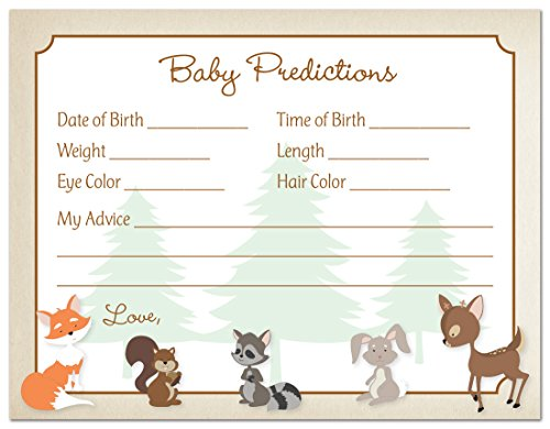 Woodland Animals Baby Prediction Cards product image
