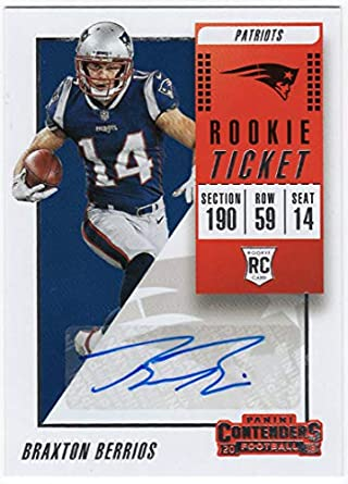 lowest price 3e90c a51a8 Amazon.com: Braxton Berrios 2018 Panini Contenders RC Auto ...