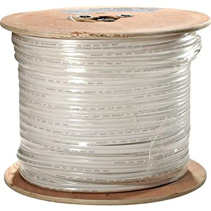 200-915WH Steren RG59 Coax with 2 18GA Pwr for Cam White