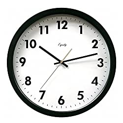 Equity by La Crosse 25509 14-Inch Commercial Wall Clock, Pack of 1, White