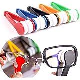 LERORO 5 Pcs Mini Sun Glasses Eyeglass Microfiber Spectacles Cleaner Soft Brush Cleaning Tool.
