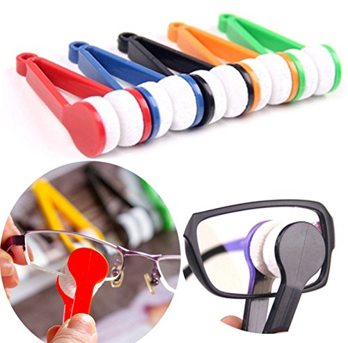 Leroro 5 Pcs Mini Sun Glasses Eyeglass Microfiber Spectacle