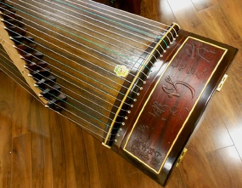 Dunhuang Collection East Indian Rosewood Zitan Guzheng 698F with Master Xu Signature by Dunhuang