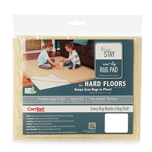 Con-Tact Rug Pad 5x8, Non-Slip Area Rug Pad, Eco-Stay for Hard Floors