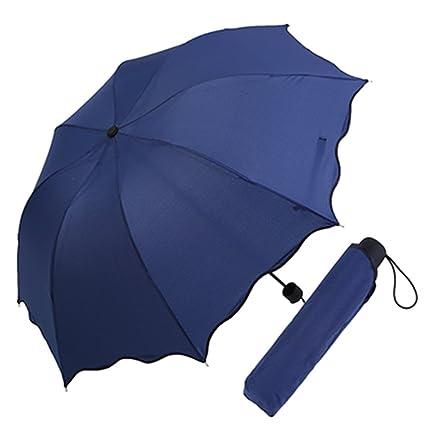 Paraguas plegable Sombrilla Dublaje de color sólido Ducha soleada doble Sombrilla al aire libre Sombrilla Sombrilla