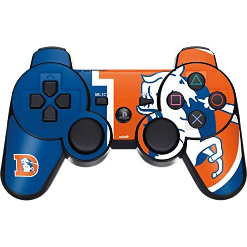 NFL Denver Broncos PS3 Dual Shock wireless controller Skin - Denver Broncos Retro Logo Vinyl Decal Skin For Your PS3 Dual Shock wireless controller