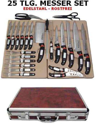 Compra Scheffler - Maletín de cuchillos (25 piezas, acero ...
