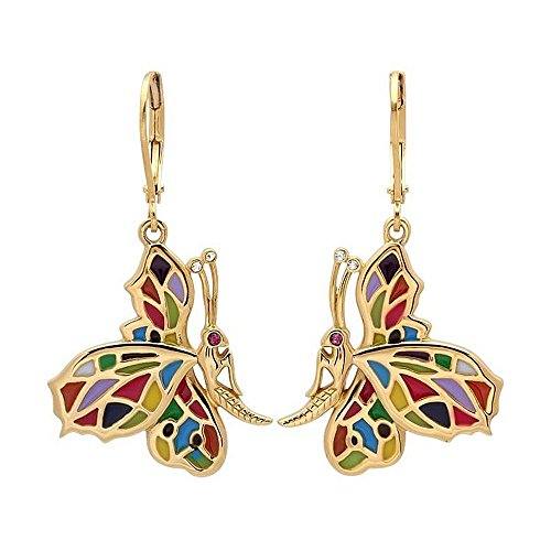15-Long-Stainless-Steel-Yellow-Gold-Buttefly-Earrings-with-Enamel