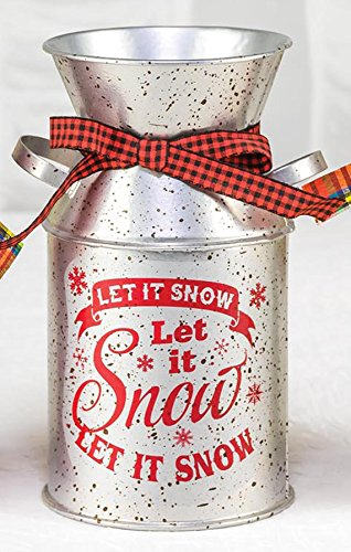 - Hannah's Handiworks Let It Snow Milk Jug Silver