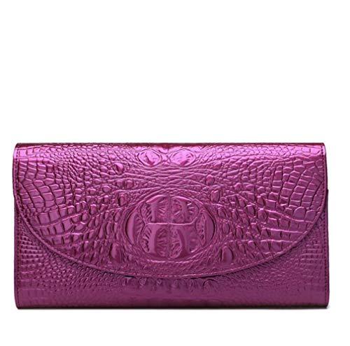 Primavera Nuova Pochette Modello Coccodrillo Borse In Pelle Borse Tracolla Bag Purple