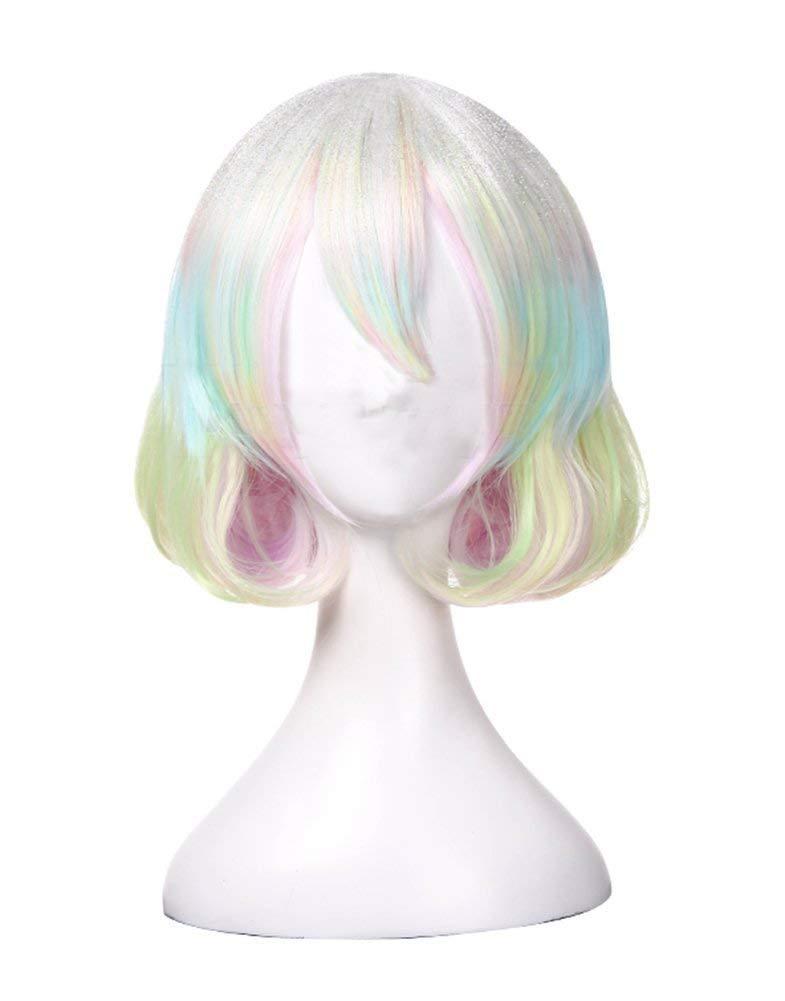 Diamond wig Cosplay Land of The Lustrous Costume Girls iridescent Bob Hair Anime Accessories