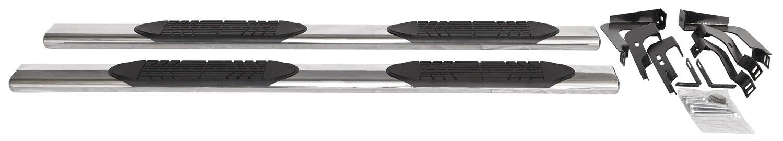 Light Duty//Heavy Duty, C//C 4 Door ICI SIX21CH 6 Oval Stainless Step Bar for Chevy Silverado//GMC Sierra