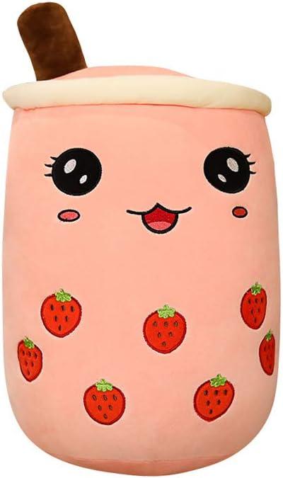 Boba Plush/Plushie | Boba Stuffed Animal | Bubble Tea Milk Tea Pillow | Plush Toy for Kids, Adults, Boba Lover