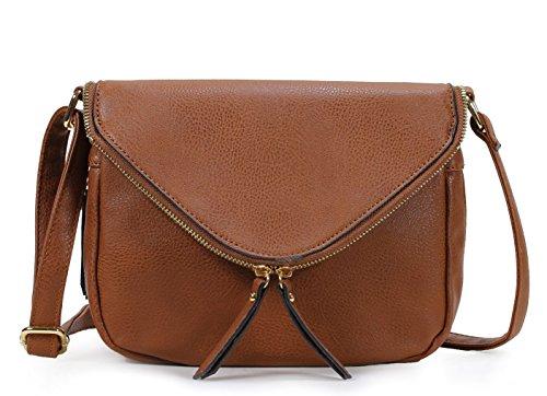 Scarleton Stylish Zipper Flap Crossbody Bag H1867