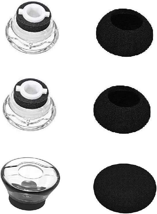 BLLQ Replacement Small Size Ear Tips Earbuds EarTip Kit with Foam Cover for Plantronics Voyager Legend Accessory for Legend S Size 3 Eartips /& 3 Foam Covers