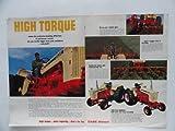 "1967 Case Tractors. Vintage print ad. 2 full pages 21"" x 13 1/2"" center fold, color Illustration (HIGH TORQUE) Original vintage 1967 Wisconsin Agriculturist Magazine Print Art."