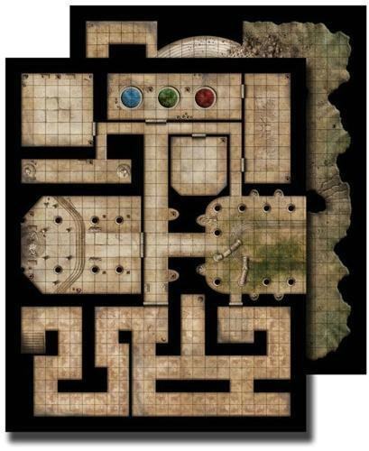 GameMastery Flip-Mat: Ancient Dungeon (Gamemastery Flip Map)